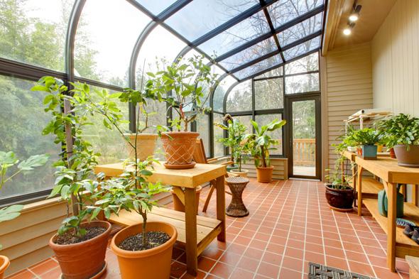 Light glass green house, sun room